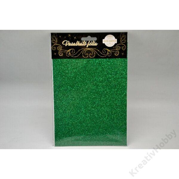 Vasalható fólia,glitteres,zöld 15*20cm 2db/cs