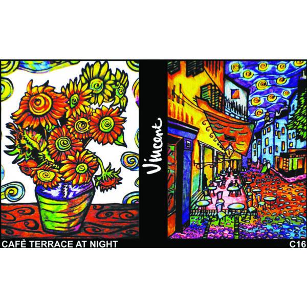 Colorvelvet gyűrűs könyv/Van Gogh