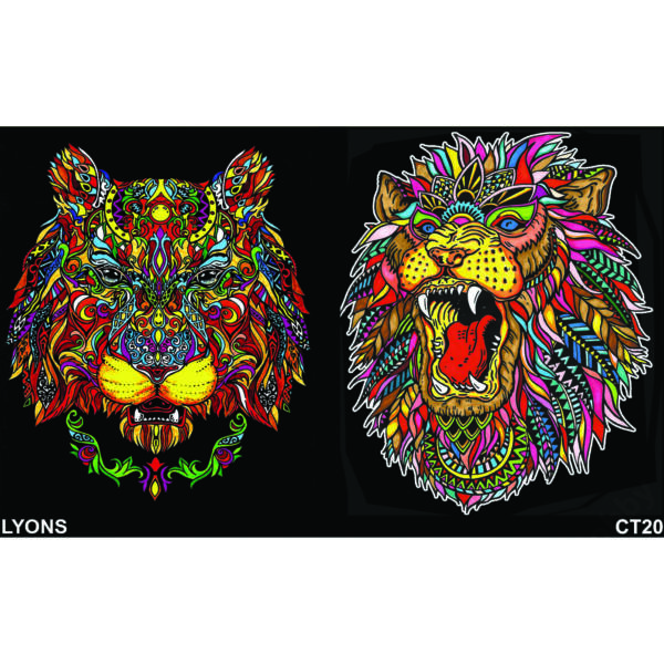 Colorvelvet gumis mappa/Lion