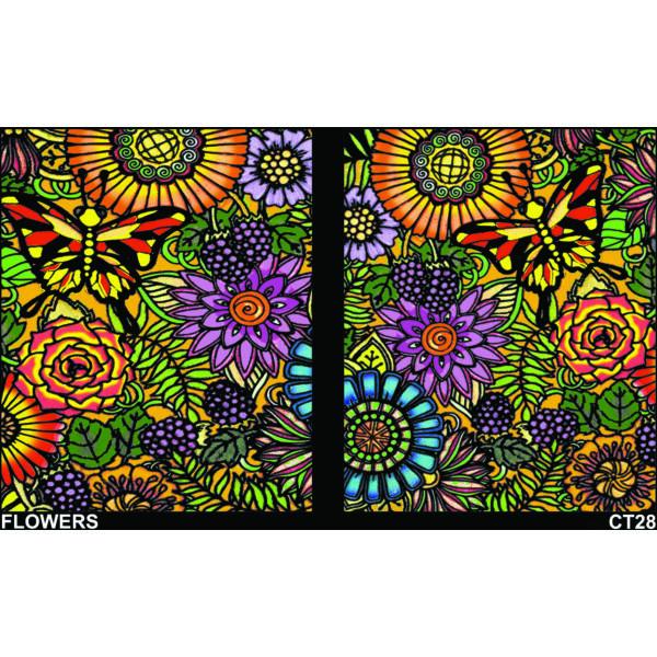Colorvelvet gumis mappa/Flowers