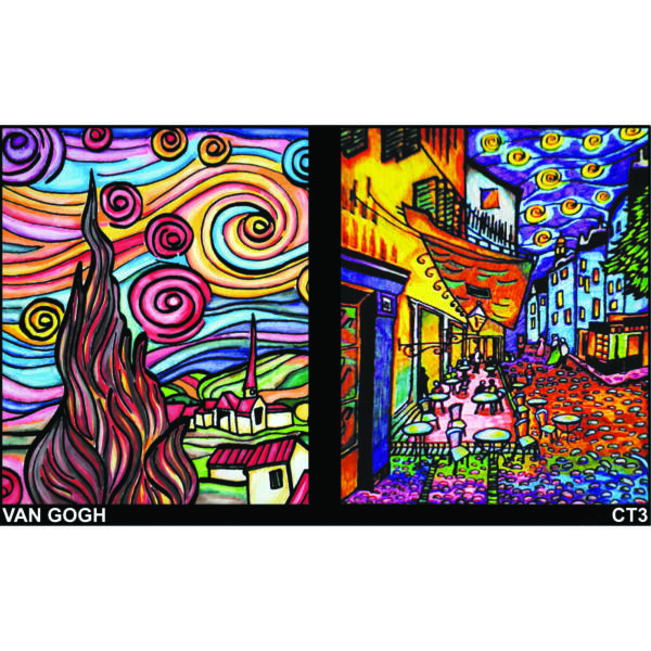 Colorvelvet gumis mappa/Van Gogh