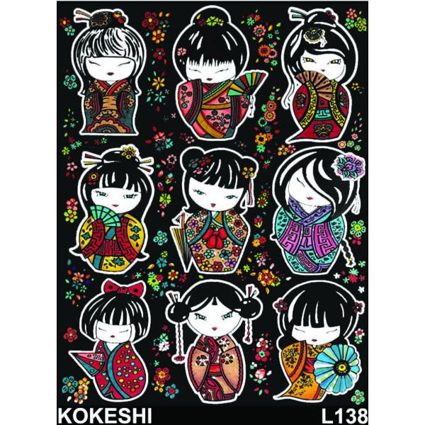 Colorvelvet bársonykép 47x35 cm/Japan dolls