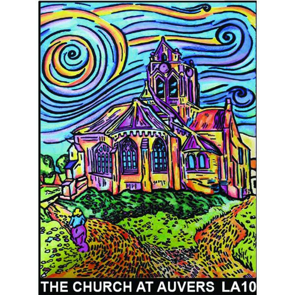Colorvelvet bársonykép 47x35 cm/The church at auvers