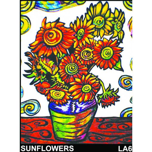 Colorvelvet bársonykép 47x35 cm/Sunflowers