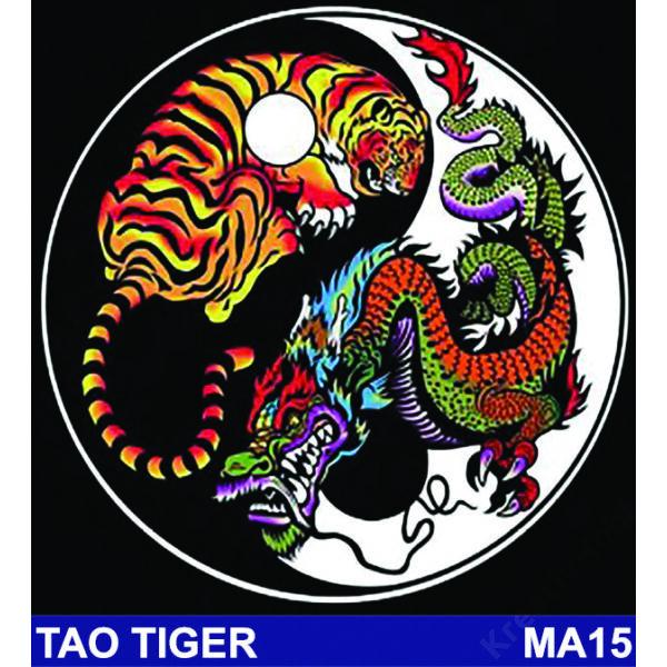 Colorvelvet bársonykép 32x32 cm/Tao tiger