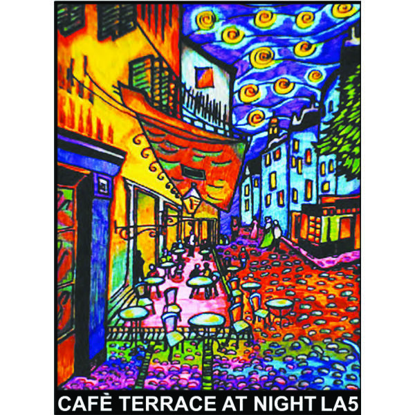 Colorvelvet bársonykép 47x35 cm/Café terracce at night