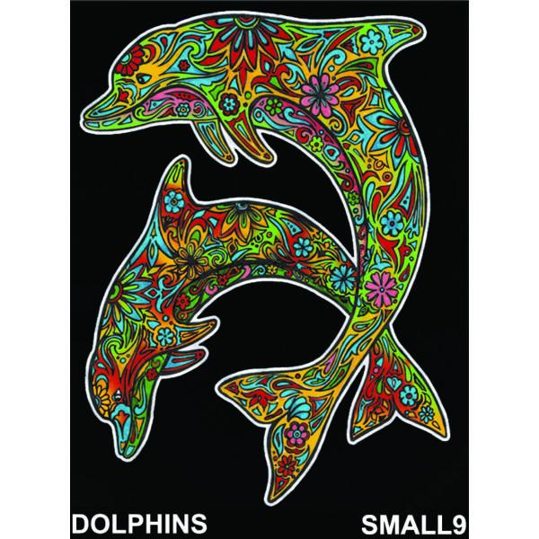 Colorvelvet bársonykép 21x29,7 cm/Dolphins