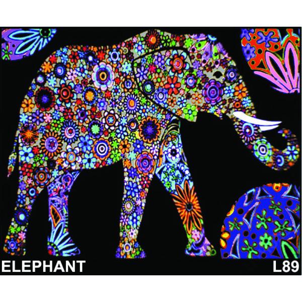 Colorvelvet bársonykép 50x70 cm/Elephant