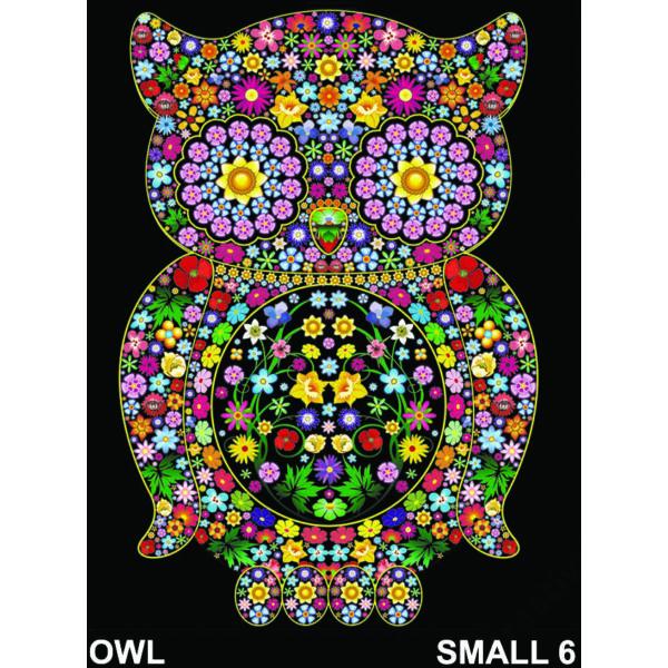 Colorvelvet bársonykép 21x29,7 cm/Owl flowers