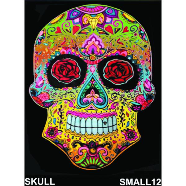Colorvelvet bársonykép 21x29,7 cm/Skull