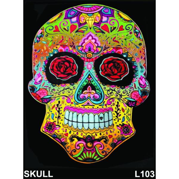 Colorvelvet bársonykép 47x35 cm/Skull