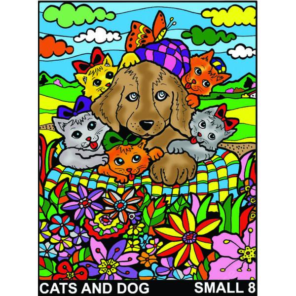 Colorvelvet bársonykép 21x29,7 cm/Cats and dogs