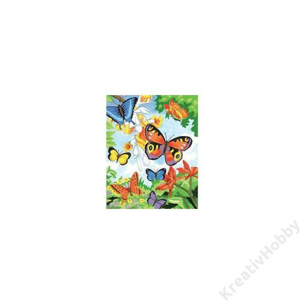 Számozott színező 222,3*298,5mm - Pillangók