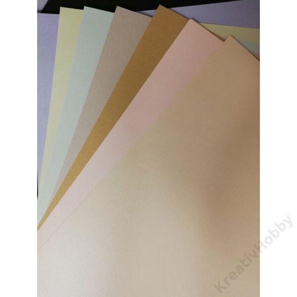 Gyöngyházfényű karton A4 halványrózsaszín