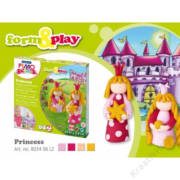 Gyurmakészlet, Fimo Kids, 4*42g, hercegnők