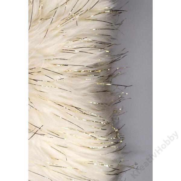 Szőrmeszalag textil 190x10cm,arany szállal