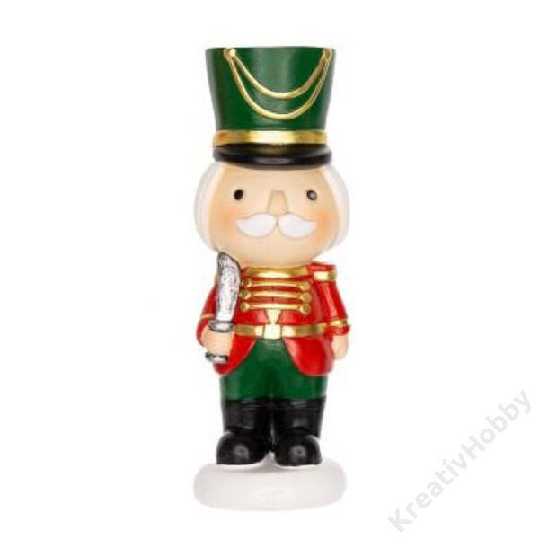 Karácsonyi figura Zöld 6x2cm