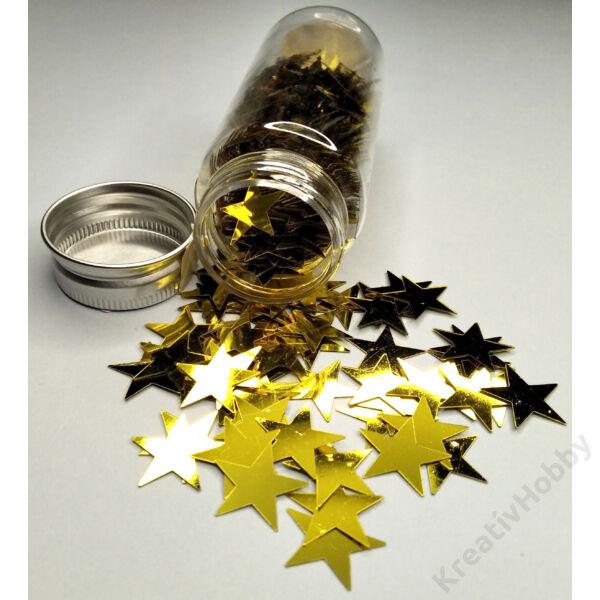 Konfetti,arany csillag,40g. Kb.200db/cs