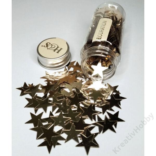 Konfetti,pezsgőszín,Csillag 40g.Kb.200db/cs