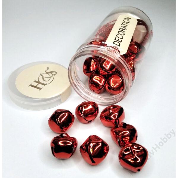 Csengettyűk dobozban ,piros 1,5cm 25db/cs