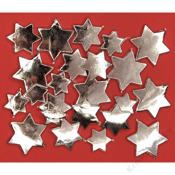Csillag asztali szóró dísz 24 db ezüst