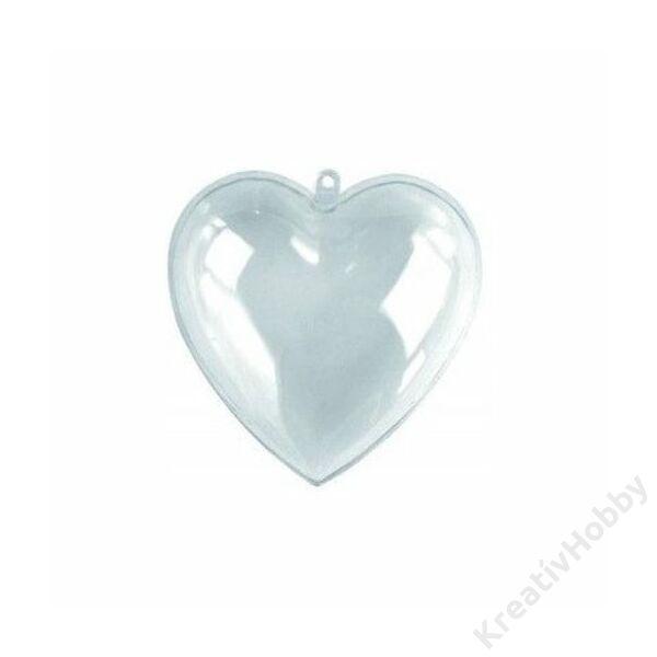 Műanyag szív 8cm