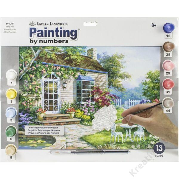 Számozott kifestő - Tavasz