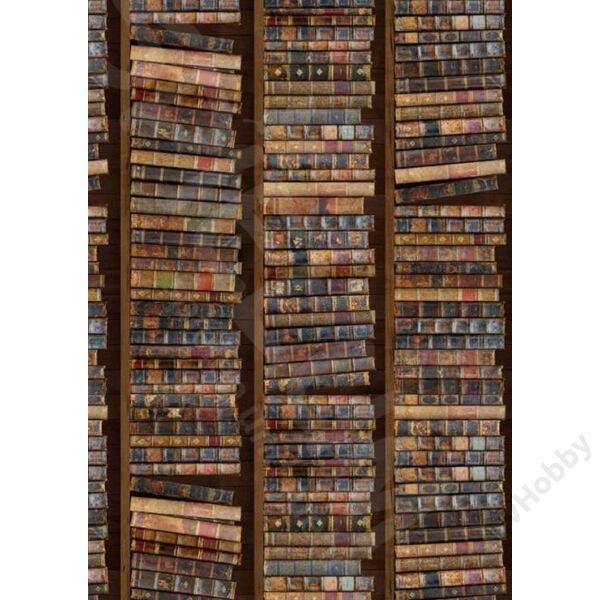 Kétoldalas mintás kartonok, Könyvespolc