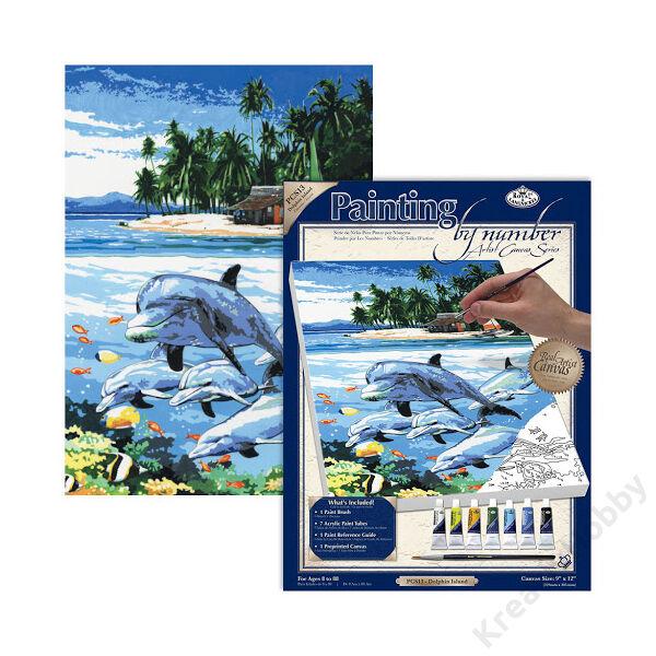 Számozott kifestő 229*305*19mm - Delfin sziget