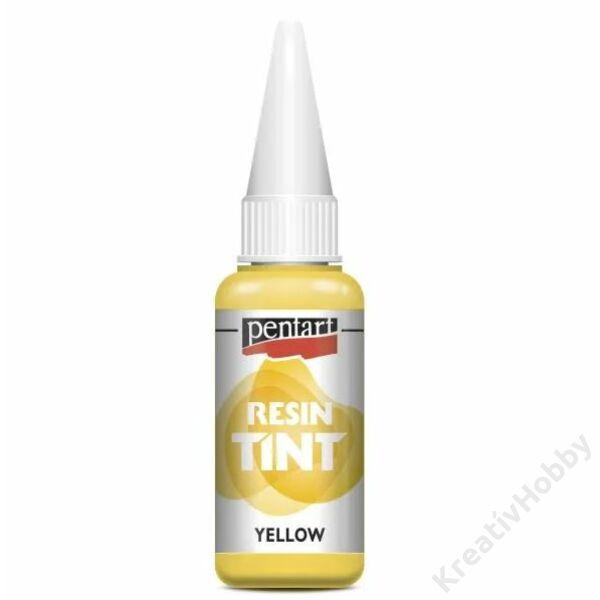 Gyantaszínező tinta 20ml sárga