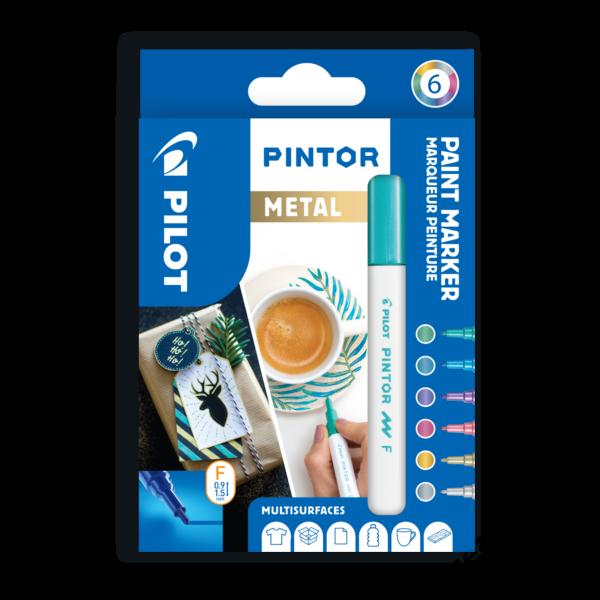 Pintor 6 db-os szett metál színek (GD, ML, MP, MG, MV, SI)