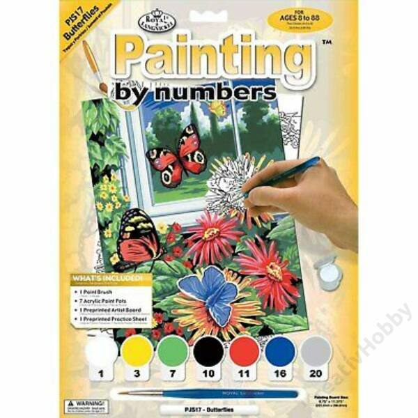 Számozott kifestő,Pillangók