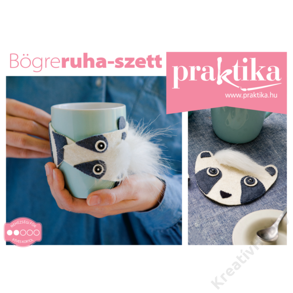 Praktika-Kreatív DIY egységcsomag - Bögreruha szett