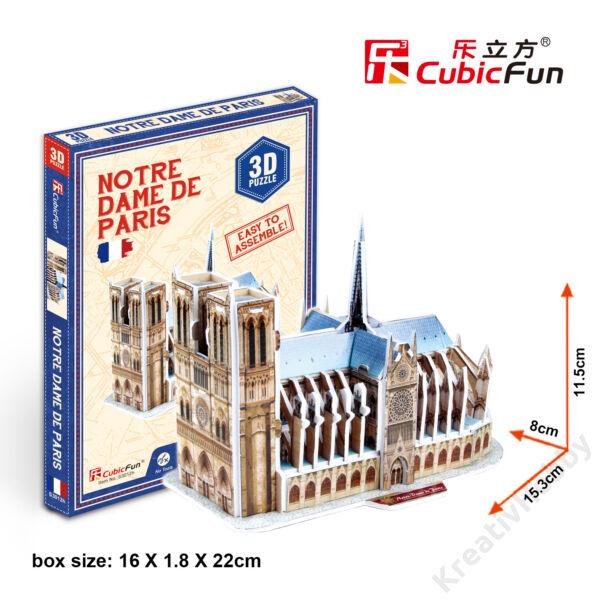 3D mini puzzle / Notre Dame128