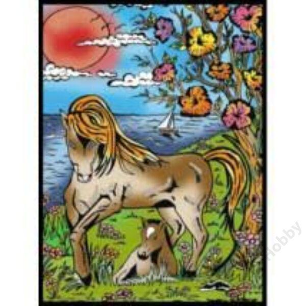 Colorvelvet bársonykép 21x29,7 cm/Horses