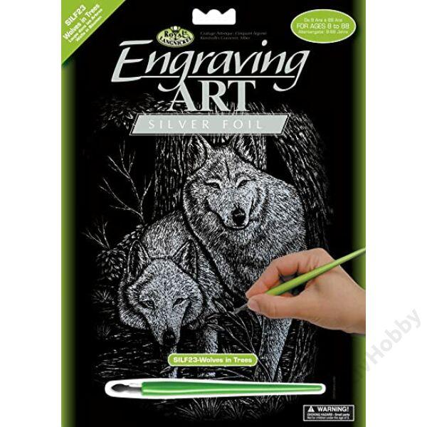 Karckép,ezüst-Erdei farkasok