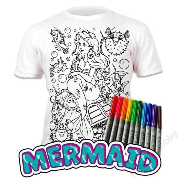Színezhető pólók -Sellő, korosztály 5-6